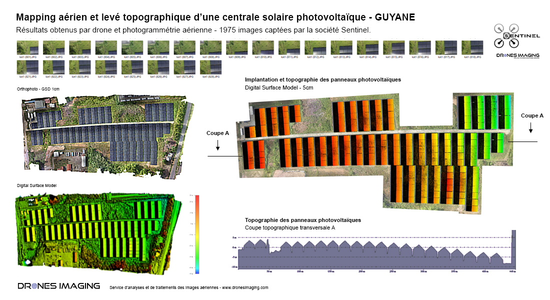 Aerial mapping and topographic survey of a photovoltaic