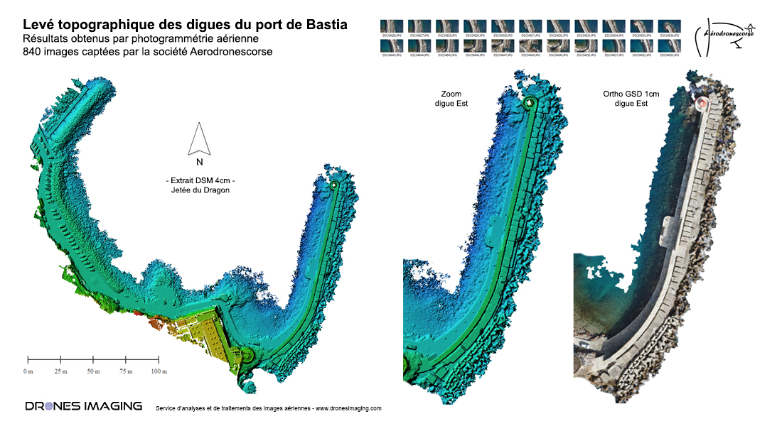 Topographic survey of the Bastia port